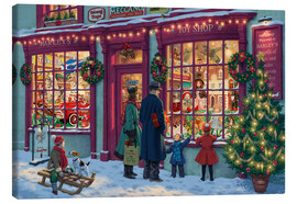 Canvas-taulu  Toy Shop at Christmas - Steve Read