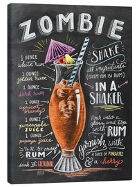 Canvas-taulu  Zombie Cocktail recipe - Lily & Val