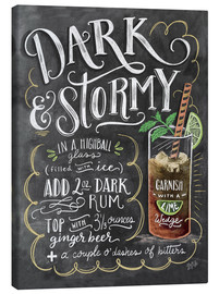 Canvas-taulu  Dark & Stormy cocktail recipe - Lily & Val