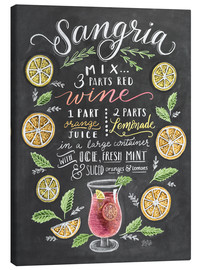 Canvas-taulu  Sangria recipe - Lily & Val