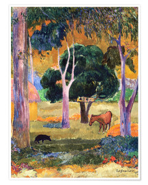 Juliste Landscape with a Pig and a Horse (Hiva Oa)