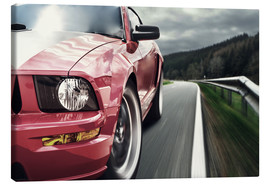 Canvas-taulu  Red Mustang