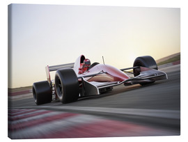 Canvas-taulu  F1 racing car in motion