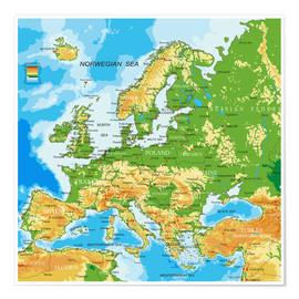 Juliste  Map of Europe