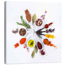 Canvas-taulu  Spice and herb'clock