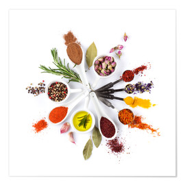Juliste  Spice and herb'clock