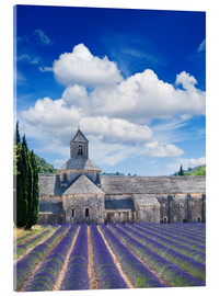 Akryylilasitaulu  Sénanque abbey with lavender field, Provence, France
