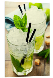 PVC-taulu  Mojito cocktail with ingredients