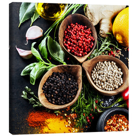 Canvas-taulu  Herbs and spices