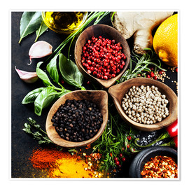Juliste  Herbs and spices