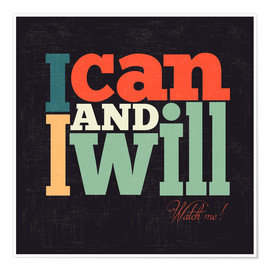 Juliste  I can and I will - Typobox