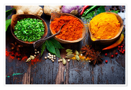 Juliste  Colorful spices diversity