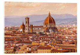 Akryylilasitaulu  Florence Cathedral in evening light