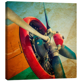 Canvas-taulu  Rotor Blades of a military plane