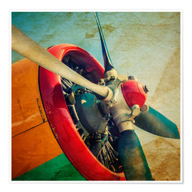 Juliste Rotor Blades of a military plane
