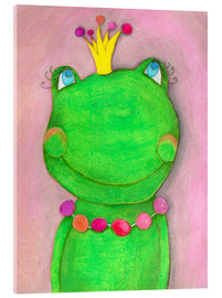 Akryylilasitaulu  The frog queen and the colorful crown - Atelier BuntePunkt