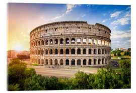 Akryylilasitaulu  Colosseum at sunset in Rome, Italy - Jan Christopher Becke