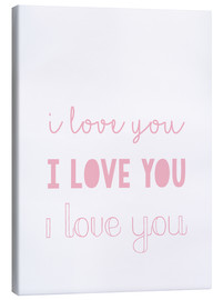 Canvas-taulu  I love you pastel - Finlay and Noa