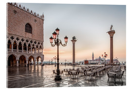Akryylilasitaulu  St. Mark's square in Venice during sunrise - Dieter Meyrl