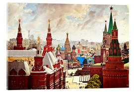 Akryylilasitaulu  Aerial view of the Kremlin in Red Square, Moscow