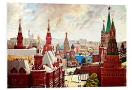 PVC-taulu  Aerial view of the Kremlin in Red Square, Moscow