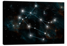 Canvas-taulu  Artist's depiction of the constellation Gemini the Twins. - Marc Ward