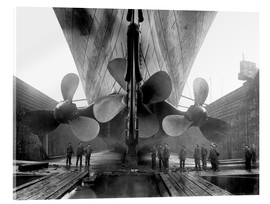 Akryylilasitaulu  Shipyard workers with the Titanic - John Parrot
