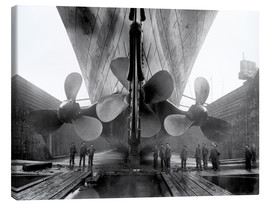 Canvas-taulu  Shipyard workers with the Titanic - John Parrot