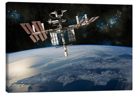 Canvas-taulu  Space Shuttle at International Space Station - Marc Ward