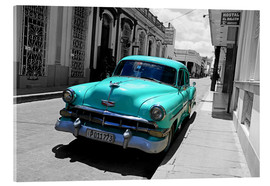 Akryylilasitaulu  Colorspot - classic cars in the streets of Santa Clara, Cuba - HADYPHOTO
