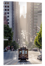 Akryylilasitaulu  Cable car in San Francisco - Matteo Colombo