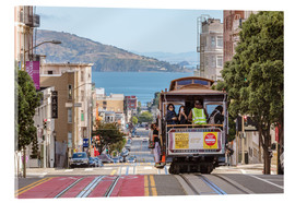 Akryylilasitaulu  Cable car on a hill in the streets of San Francisco, California, USA - Matteo Colombo
