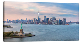 Canvas-taulu  New York skyline with Statue of Liberty - Matteo Colombo