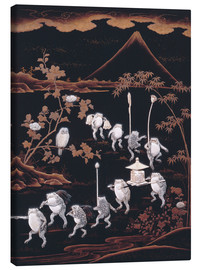 Canvas-taulu  Procession of frogs