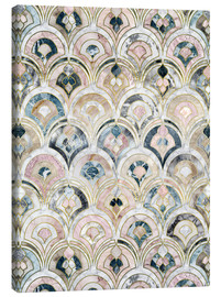 Canvas-taulu  Art Deco Marble Tiles in Soft Pastels - Micklyn Le Feuvre
