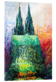 Akryylilasitaulu  Cologne Cathedral Abstract - Renate Berghaus