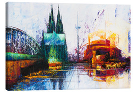 Canvas-taulu  Cologne Cathedral Skyline - Renate Berghaus