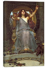 Canvas-taulu  Circe Offering the Cup to Ulysses - John William Waterhouse