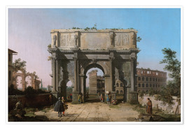 Juliste Arch of Constantine with the Colosseum