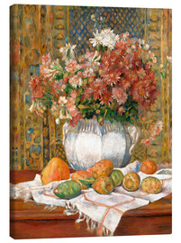Canvas-taulu  Still Life with Flowers and Prickly Pears - Pierre-Auguste Renoir