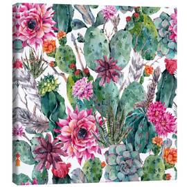 Canvas-taulu  Cacti, feathers and arrows