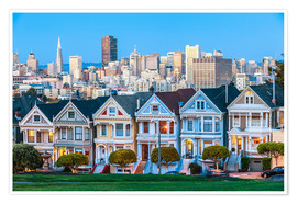 Juliste  Painted Ladies, San Francisco
