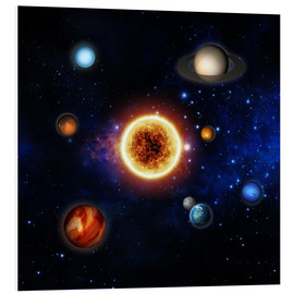 PVC-taulu  Our sun and planets