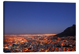 Canvas-taulu  Cape Town at night, South Africa - wiw