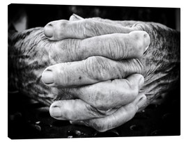Canvas-taulu  Hands of an old man