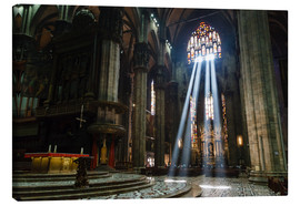 Canvas-taulu  Beams of Light inside Milan Cathedral