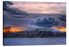 Canvas-taulu  Clouds above the HDI Arena - Holger Bücker (BuPix)
