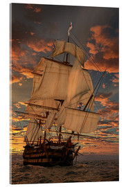 Akryylilasitaulu  The HMS victory - Peter Weishaupt
