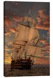 Canvas-taulu  The HMS victory - Peter Weishaupt