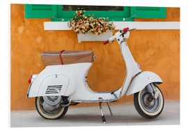 PVC-taulu  White scooter in front of a window